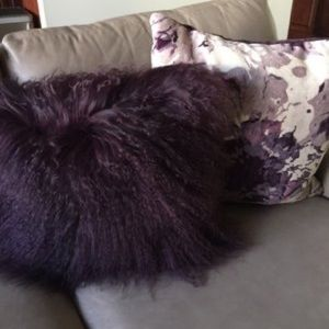 { Arhaus } Purple Print Velvet Pillow